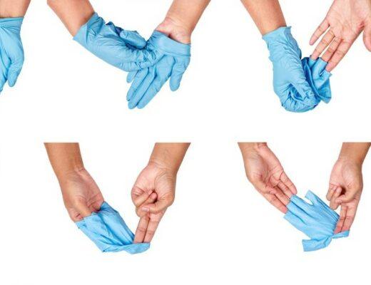 Quitarse los guantes correctamente
